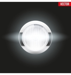 Round car headlight is on vector image