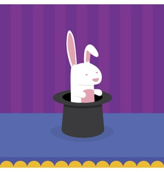 Rabbit in magicians hat vector