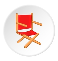Directors chair icon cartoon style vector