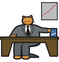 Fat cat in office vector image