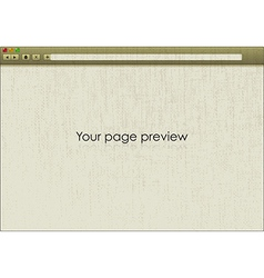 Blank window of net browser vector image