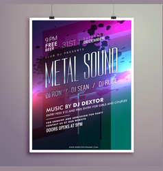 Abstract music flyer template for new year vector