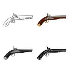 Pistol icon in cartoon style isolated on white vector