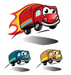 smile truck vector image