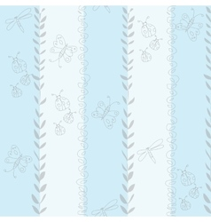 Seamless baby pattern for boy vector