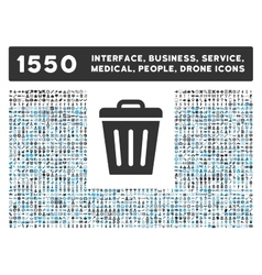 Trash can icon and more interface business tools vector
