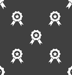 Award medal of honor icon sign seamless pattern on vector