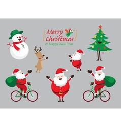 Christmas characters set vector