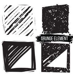 Set grunge backgrounds abstract elements vector