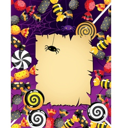 Halloween sweets card vector
