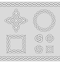 Celtic ornamental design elements vector image