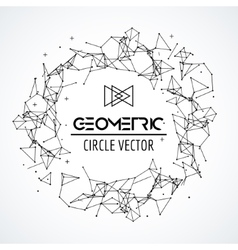 Wireframe mesh circle broken polygonal sphere vector