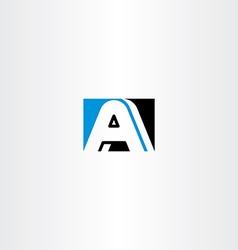 A letter black blue symbol logo icon element vector