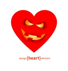 Abstract design element heart with smile vector image vector image
