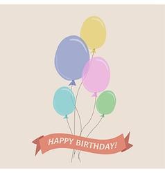 Birthday flat vector