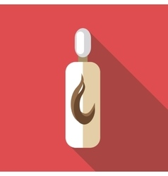 Bottle of shampoo icon flat style vector