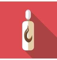 Bottle of shampoo icon flat style vector