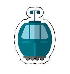 Cable car transport shadow vector