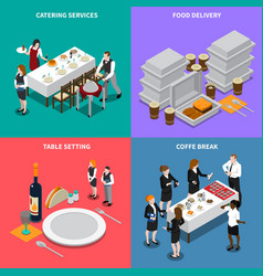 Catering services isometric design concept vector