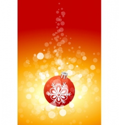 Christmas background with sparkles vector image vector image