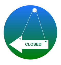 Closed sign white icon in vector