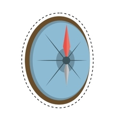 Compass marine destination travel cut line vector
