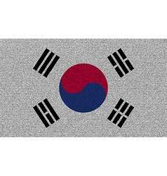 Flags Korea South on denim texture vector image