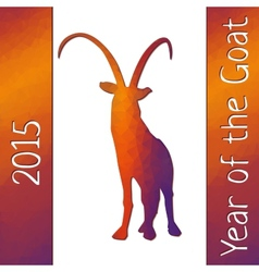 Geometric pattern goat for new year vector image