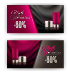 Gift voucher cosmetic vector