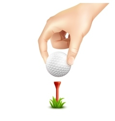 Golf ball realistic background vector