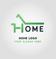 green home business logo template vector image vector image