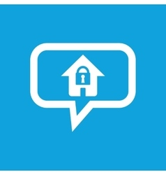 Locked house message icon vector