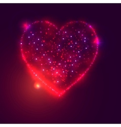 Love heart background from beautiful bright stars vector