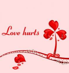 love hurts vector image vector image