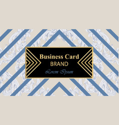 luxury business card with abstract ornament vector image