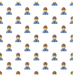 Male miner pattern seamless vector