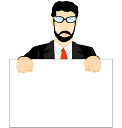 Man with poster vector image vector image