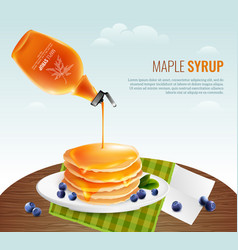 Maple syrup concept vector