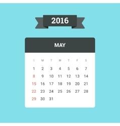 May 2016 calendar vector