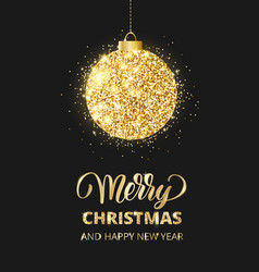 Merry christmas and happy new year card with vector