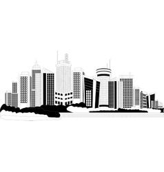 Modern city metropolis vector