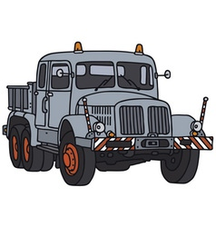 Old towing truck vector
