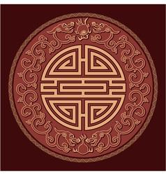 Oriental feng shui pattern vector