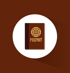 Passport id document travel icon vector