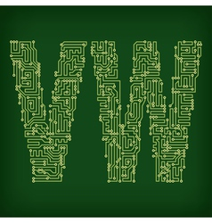 PCB letter and digits vector image vector image