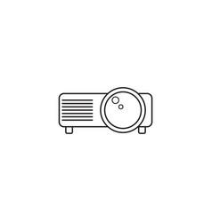 projector line icon outline logo vector image vector image