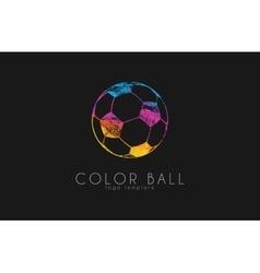 soccer mall logo colorful soccer ball crative vector image vector image