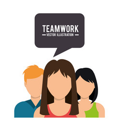 teamwork people company icon vector image