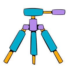 tripod icon cartoon vector image