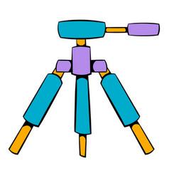 tripod icon cartoon vector image vector image